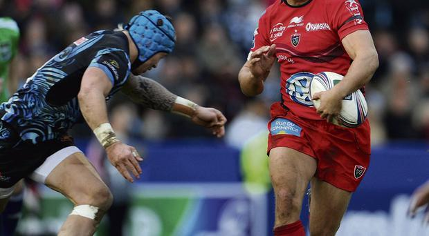 Toulon's Jonny Wilkinson in action against Exeter at Sandy Park yesterday. Photo: Tim Ireland