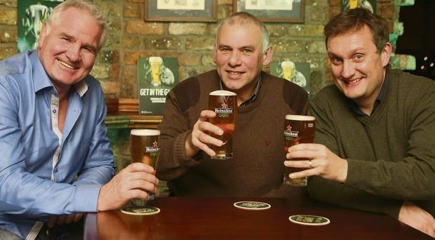 Brent Pope, Tony Ward and Mario Rosenstock discuss their Heineken Star Predictors for the Irish Independent video at the Barge Pub in Dublin