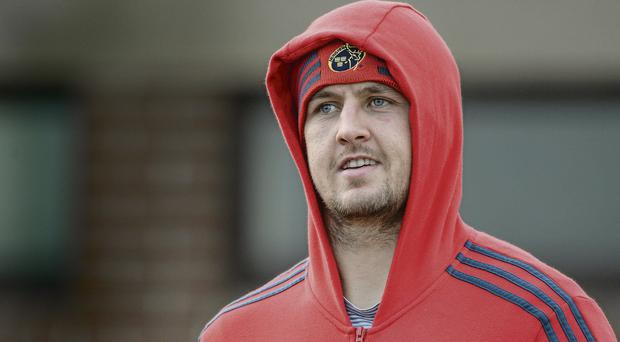 Dave Foley will be hoping to play for Munster over the festive period