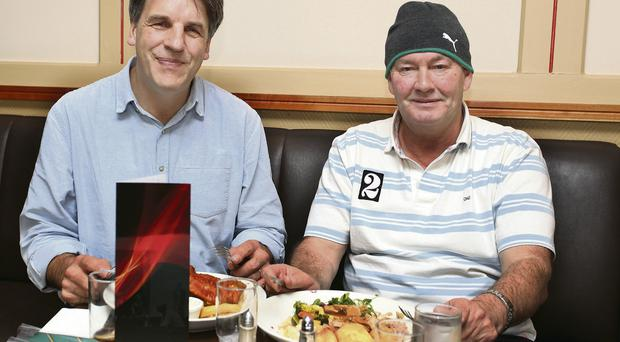 Bread and butter: Rala chats about all things rugby with Kim Bielenberg in Toddy's Brasserie. Photo: Martin Maher