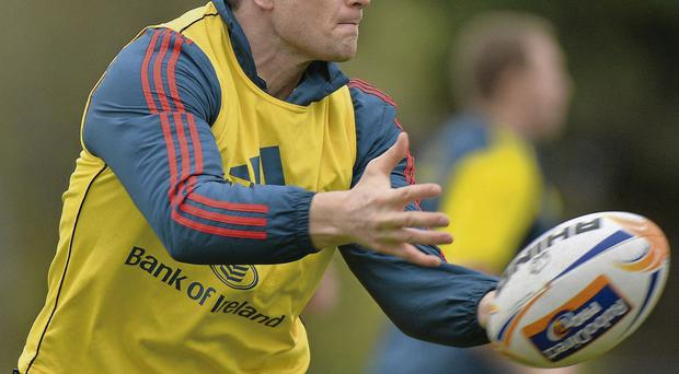 Munster's Denis Hurley will be hoping the province can maintain their recent fine form Matt Browne/SPORTSFILE