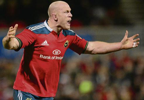 Paul O'Connell returns to the Munster team to face Leinster.