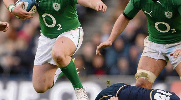 Dave Kilcoyne in action against during Ireland's defeat against Scotland in Murrayfield last year Stephen McCarthy/SPORTSFILE