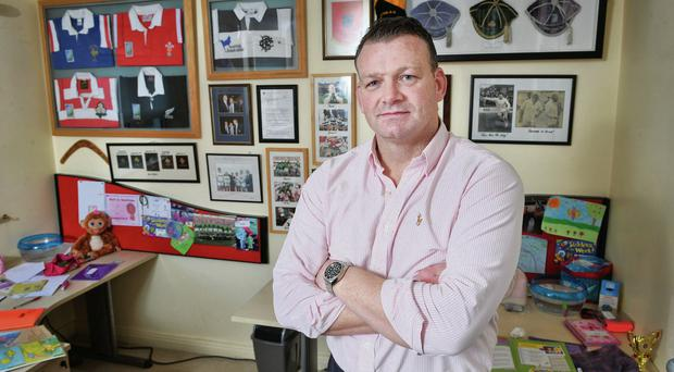 Former Munster and Ireland international rugby player David Corkery pictured in his Glanmire home