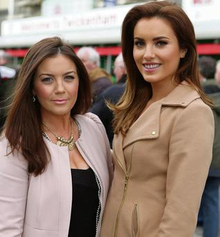 Sinead Corcoran (girlfriend of Jack McGrath) and Holly Carpenter (girlfriend of Cian Healy); Photo: Gerry Mooney