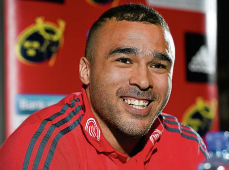 Munster's Simon Zebo has admitted he must improve his workrate at the breakdown