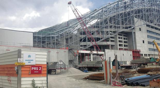 The redevelopment works at the Stade Velodrome in Marseille where Munster take on Toulon in the Heineken Cup on Sunday