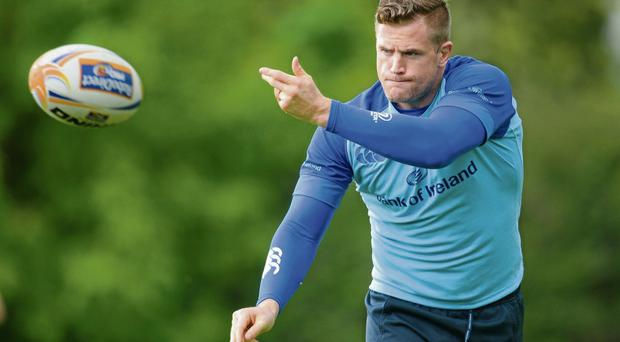 Jamie Heaslip goes through his paces in training ahead of tonight's Pro 12 final against Glasgow Stephen McCarthy / SPORTSFILE