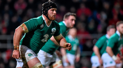 Sean O'Brien in action for the Wolfhounds on Friday: He needs to play against Italy to be ready for French clash