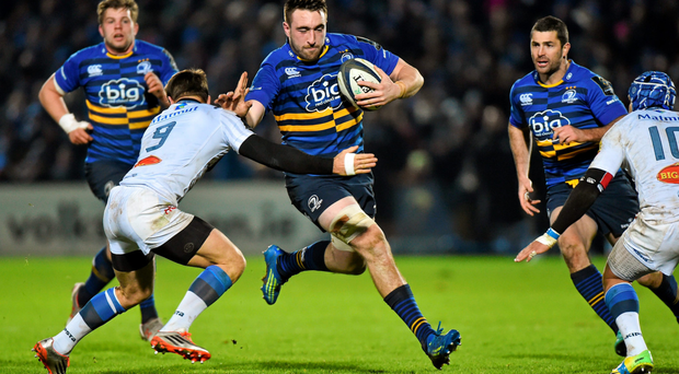 Making a name for himself: Leinster's Jack Conan is tackled by Rory Kockott of Castres during last month's Champions Cup clash