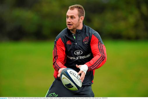 Johne Murphy will not be part of the 2015/16 Munster squad.