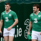 Robbie Henshaw and Jared Payne will lock horns tomorrow