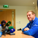 Sean Cronin answers questions at Leinster's media conference ahead of Sunday's clash against Toulon SPORTSFILE