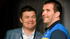 Shane Jennings with his former team-mate Brian O'Driscoll