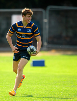 Garry Ringrose in action during Leinster training