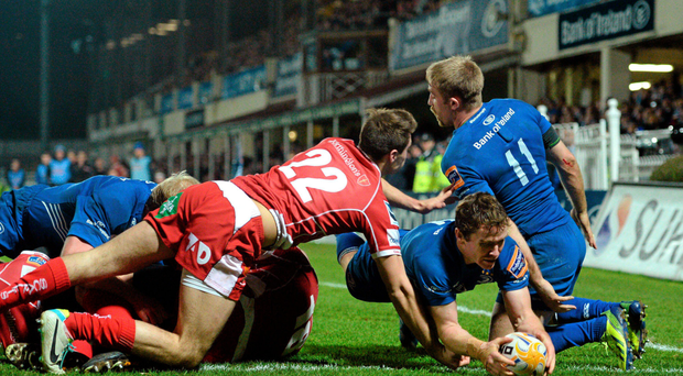 Eoin Reddan scores a try against Scarlets in 2013 and is looking forward to a tough test tonight
