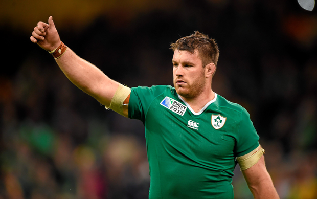 Sean O'Brien leaves the field after the win over France in what proved to be his final game of the World Cup