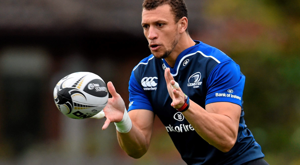 Zane Kirchner, pictured during squad training this week, will make his 50th appearance for Leinster tonight