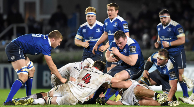 Peter Dooley on the charge for Leinster during last week's Pro 12 victory over Ulster