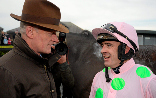 Willie Mullins and Ruby Walsh are plotting a big-race double at Kempton with Vautour and Faugheen but both horses have something to prove Photo: Sportsfile