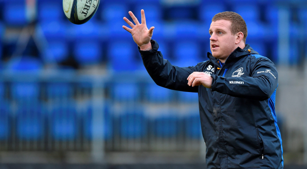 Leinster's Sean Cronin goes through his paces during a training session at Donnybrook this week. Photo: Sportsfile