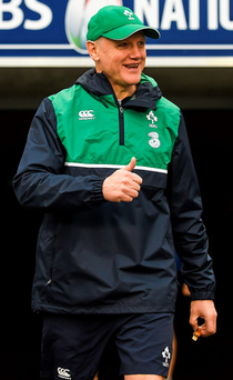 Joe Schmidt will be relieved that there were no further injuries sustained in yesterday's captain's run Photo: Sportsfile