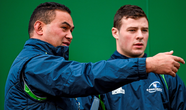 Connacht coach Pat Lam and Robbie Henshaw