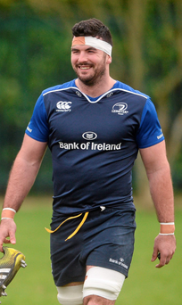 Mick Kearney is all smiles after Leinster training Photo: Sportsfile