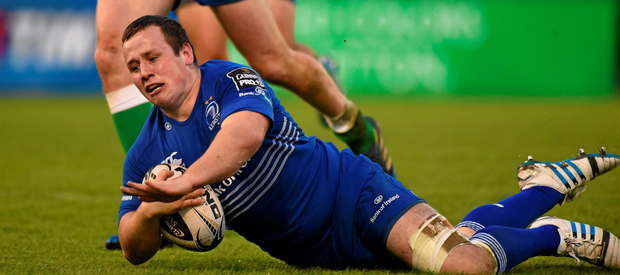 Bryan Byrne scores a try for Leinster against Treviso in 2014 (SPORTSFILE)