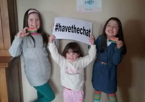 John's granddaughters Meabh, Doireann and Áine #HaveTheChatsolid