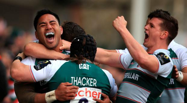 The form of Manu Tuilagi (left) has put Leicester in a good place to make a sixth European final Photo. PA Wire