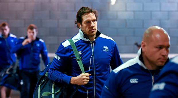 Mike McCarthy arrives for a Champions Cup pool game earlier this season (Sportsfile)