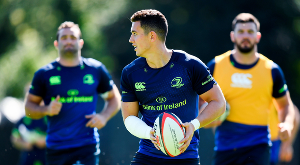 Noel Reid, going through his paces at training, is looking forward to teaming up with Robbie Henshaw during the coming season Picture: Sportsfile
