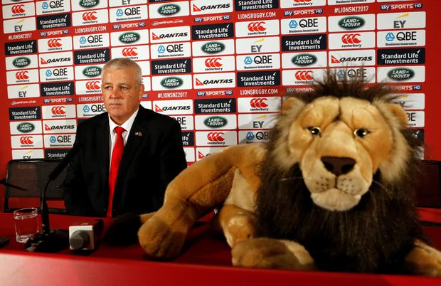 Warren Gatland. Photo: Reuters