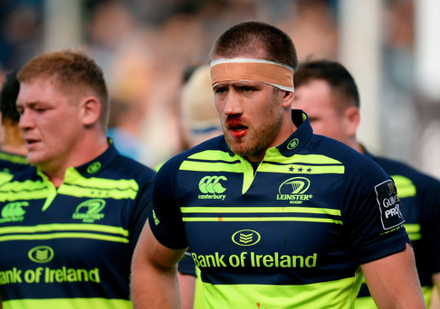 Dominic Ryan bears the scars of defeat after Leinster's loss to Glasgow Photo: Sportsfile