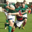 CYM players in action against Clontarf