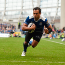Isa Nacewa touches down during Leinster's Pro12 win over Munster at the Aviva Stadium.