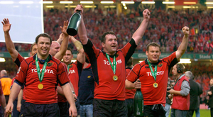 Anthony Foley after the Heiniken Cup Final vs Biarritz Olympique. Photo: Sportsfile