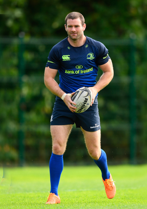Fergus McFadden during Leinster squad training Photo by Stephen McCarthy/Sportsfile