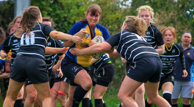 Fiona Tighe in action for the 'Clonettes'