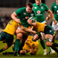 Tadhg Furlong on the charge against Australia