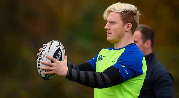 James Tracy goes through his paces with Leinster. SPORTSFILE