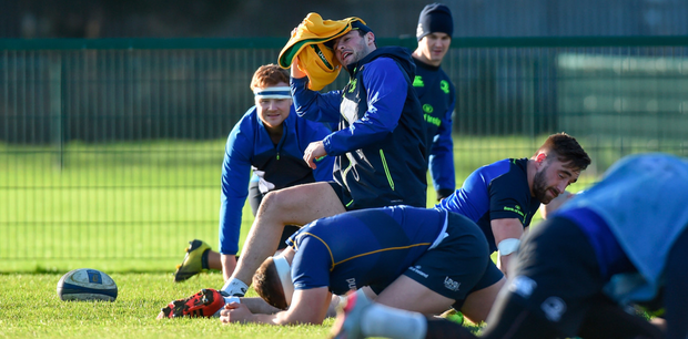 Robbie Henshaw during squad training Picture: Sportsfile
