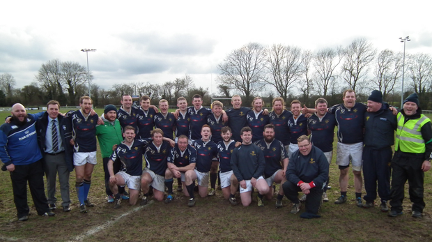 Portlaoise rugby's senior team. The club celebrated its 50th anniversary last year