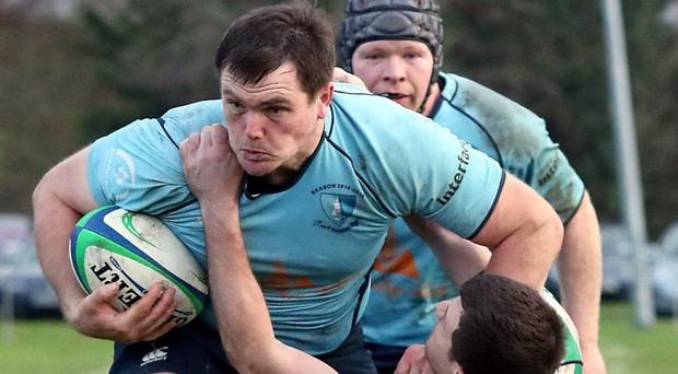 Barnhall's Tom McKeown in action against Naas