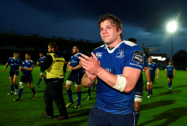 Jordi Murphy celebrates after Leinster's victory over Ulster. Photo: Sportsfile