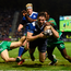 Barry Daly shrugs off the tackle of Connacht's Niyi Adeolokun to score a try during the Pro12 clash just after Christmas