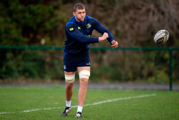 Ross Molony in action during Leinster squad training. SPORTSFILE