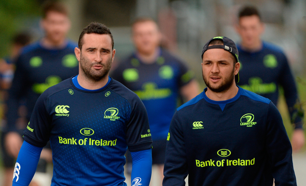 Fit-again Dave Kearney making his way to the training pitch with Jamison Gibson-Park. Photo: Piaras Ó Mídheach/Sportsfile