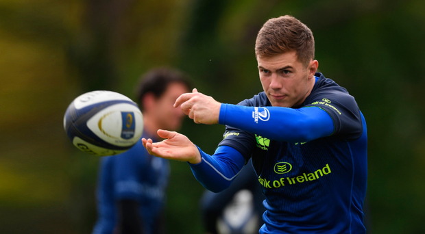 Luke McGrath at Leinster training in UCD yesterday. Photo: Sportsfile